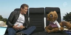 David Hasselhoff & Rico - Air New Zealand Skycouch