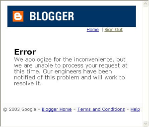 Blogger Relations - Error